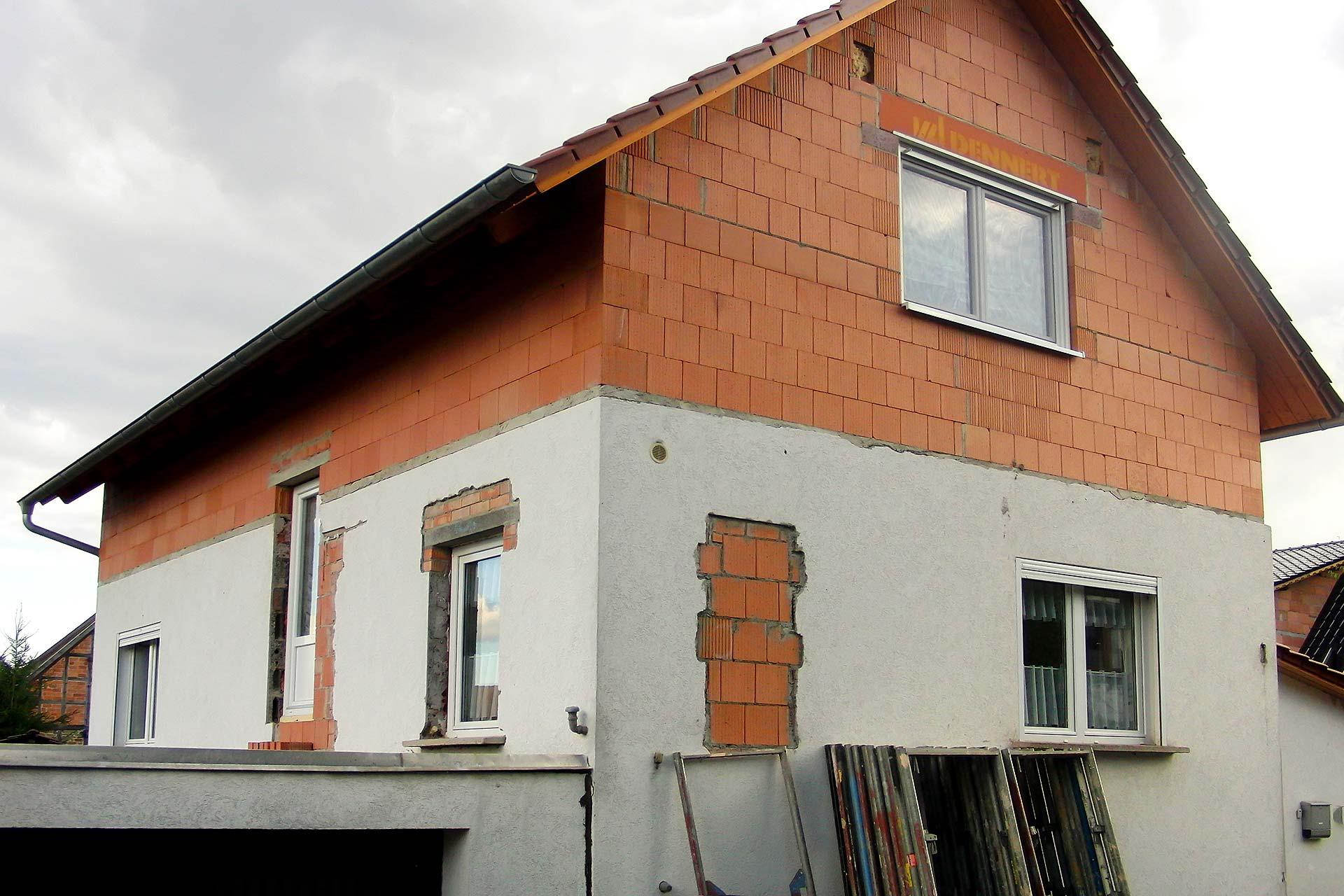 Dämmung & Außenputz eines Wohnhauses - Vorher