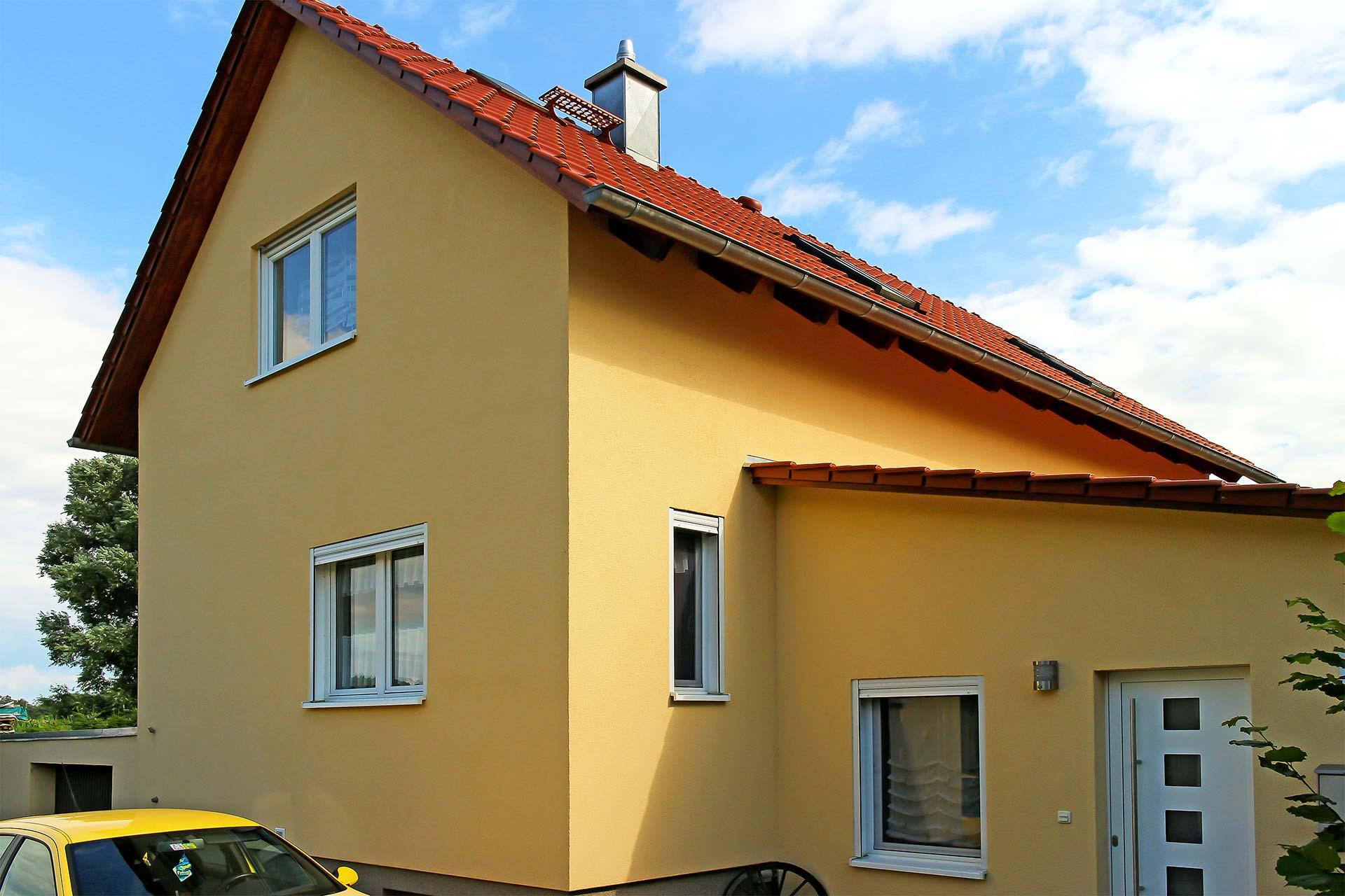 Dämmung und Außenputz eines Wohnhauses - Nachher