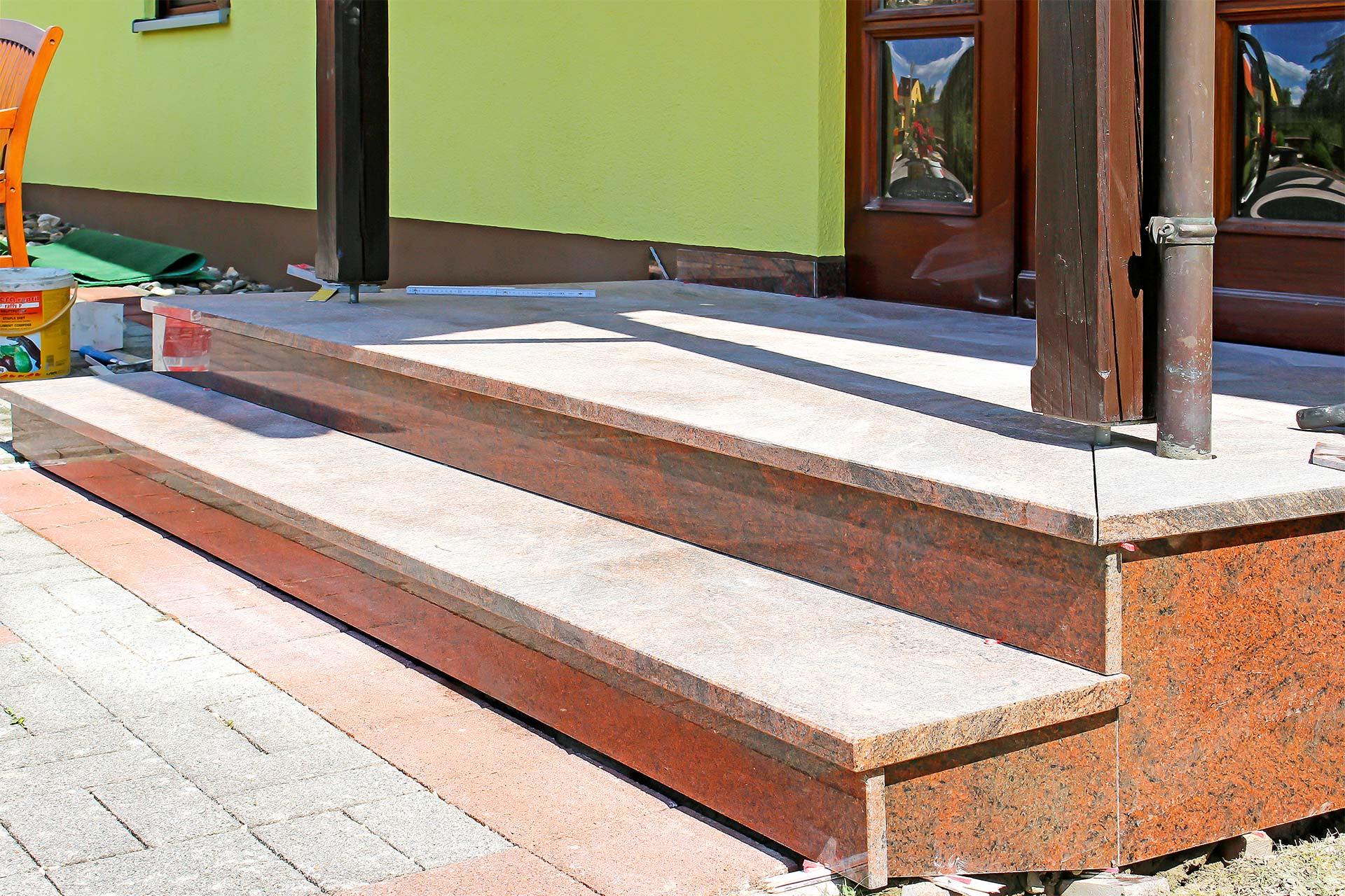 Bau einer Natursteintreppe