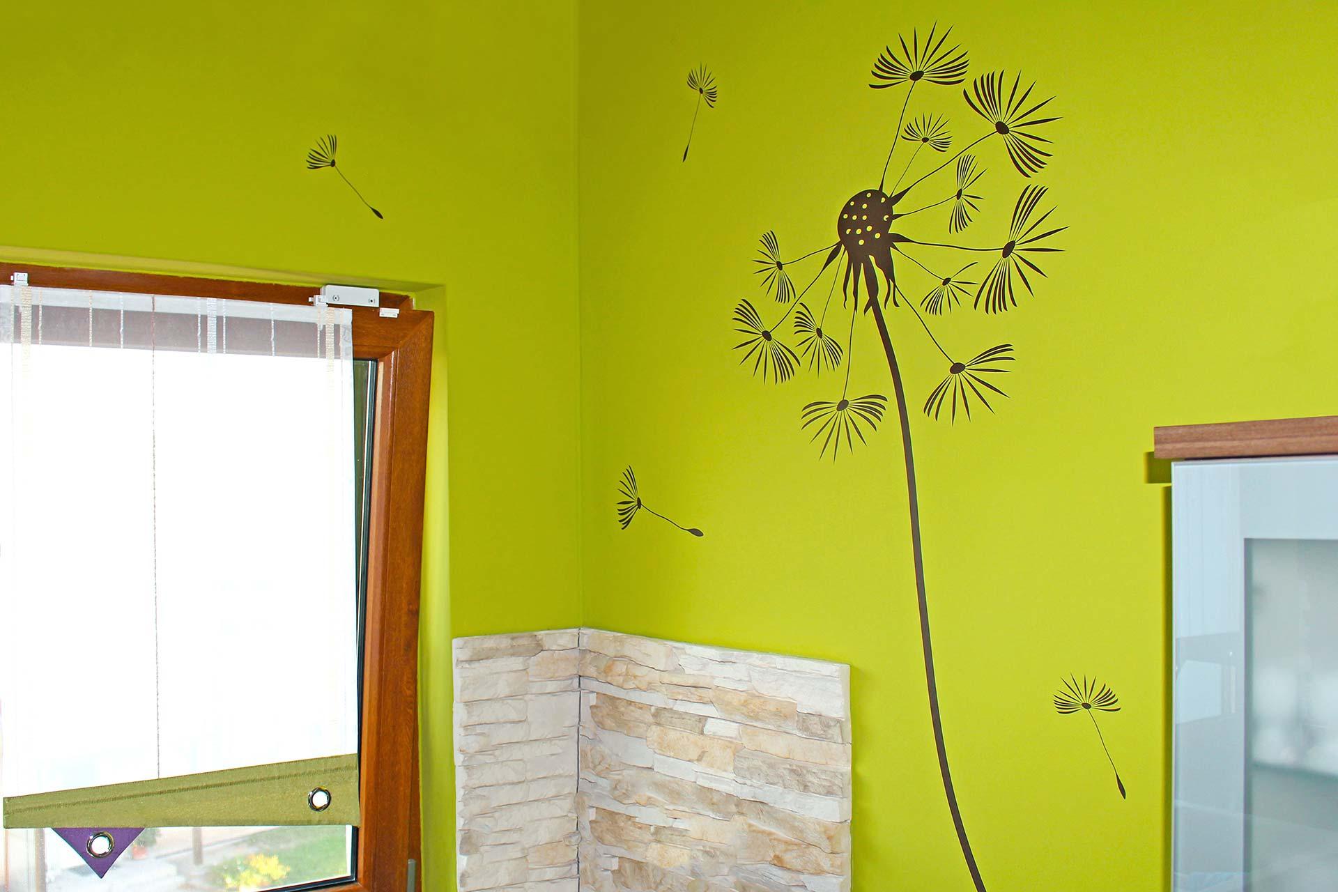 Küchenwand mit Wandtattoo